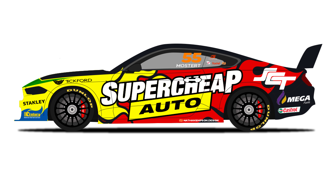 SuperCheap Auto Racing, Chaz Mostert, Ford Mustang