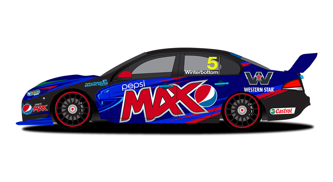 Pepsi Max Crew, Mark Winterbottom, Ford Falcon