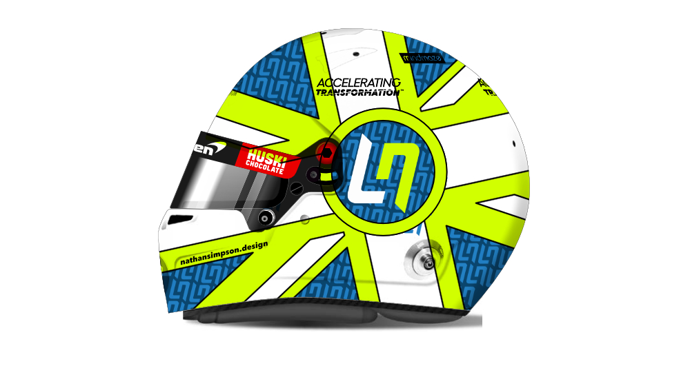 Lando Norris Helmet Design Competition Entry